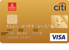 Emirates-Citibank Gold Credit Card