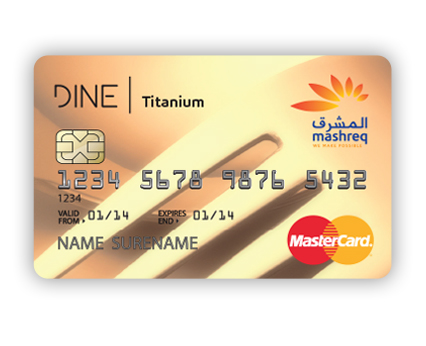 Mashreq Bank - Dining Credit Card