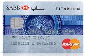 SABB - Titanium MasterCard Credit Card