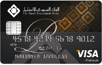 The Saudi Investment Bank - Platinum Visa Card
