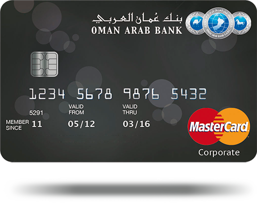 Credit Bank Card Arab - Mastercard Corporate Oman