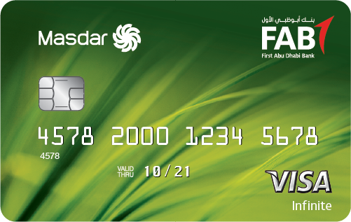 FAB - Masdar Infinite and platinum Credit Cards